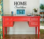 HOME SWEET HOME Wall Sticker Decal Stickers Wall Art Lettering 16x8