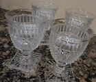 VINTAGE SET 4 COLONY PARK INDIANA GLASS CRYSTAL STEMWARE WINE DRINKING GLASSES