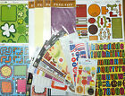 Scrapbooking Stickers Large Lot of 18 Sheets Including Alphabet Seasons