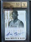 KOBE BRYANT BGS 9.5 2012-2013 Panini Intrigue RED WHITE BLUE Autograph Lakers