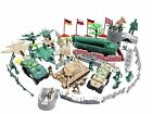 Soldiers Army Men Toy Action Figure Model Car Jet Tank Missile Bunker 60 pieces