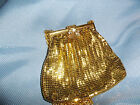 Vintage 1940'-50's Evening Handbag Clutch Purse, Gold chain mail by Duramesh