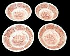 4 Alfred Meakin Fair Winds Fruit/Sauce Bowls Staffordshire England, Brown 5 1/8