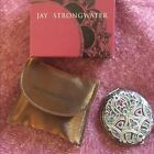 $325 Jay Strongwater Arabesque Double Mirror Case / Compact