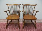 Pennsylvania House Cherry Pair Windsor Brace Back Style Arm Chairs 11-3108