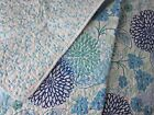 CYNTHIA ROWLEY CHIC Floral KING QUILT Blue Teal Aqua Green White TROPICAL NEW