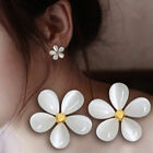 Fashion Elegant Women Silver Plated Flower Crystal Rhinestone Ear Stud Earrings