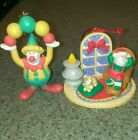New Avon Gift Collection Ornaments Lot Of 2 Clown Napping Santa Free Shipping!