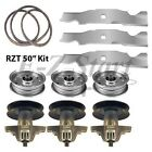 RZT 50 Zero Turn Cub Cadet TroyBilt Blade Spindle  Belt Kit Heavy Duty Blades