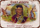 Chief Joseph Cigars Vintage Look Reproduction Metal Sign