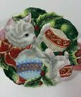 Fitz and Floyd Kristmas Kitty Canape Plate Original Box 9