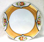 Antique/Vtg Noritake (M) Japan Reticulated Handle, Orange Luster Serving Plate