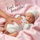 Breathing Lifelike Baby Doll Girl Newborn Realistic Collectible Vinyl Dolls Gift