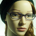 60's Retro Sexy Cat Women Rx Frame Fun Clear Lens Eye Glasses PURPLE/CLEAR