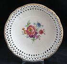 KPM BERLIN GERMANY HAND PAINTED FLOWERS RETICULATED DECORATIVE PLATE