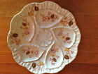 Antique German Porcelain Oyster Plate Yellow Floral Gold Trim