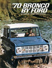 1970 Ford Bronco Sales Brochure 70 Includes FREE Racing Decal