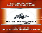 (2) BOX LOT 2012-13 LEAF METAL SEALED HOBBY BASKETBALL BOXES FREE SHIP