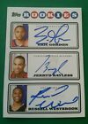 RUSSELL WESTBROOK GORDON BAYLESS 08-09 TOPPS PHOTO SHOOT TRIPLE AUTOGRAPH RC SP