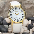 Women Retro Cheap Digital Dial Leather Band Analog Wristwatch  Quartz Watches