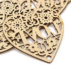1PC Laser Cut Decorative Heart Unfinished Wooden Shapes Craft Embellishments