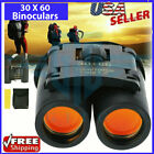 Day Night Vision Binoculars 30 x 60 Zoom Outdoor Travel Folding Telescope Bag