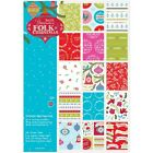 Papermania Double Sided Paper Pack A4 32 Pkg Folk Christmas Linen Finish NEW