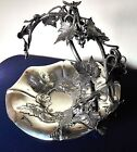 Antique Sheffield Silver Plated Vine Leaf Grape Stand by Walker