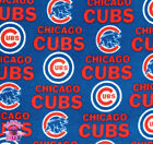 114226023 Chicago Cubs MLB 6567 B Baseball Polyester Fleece Fabric By The Yard