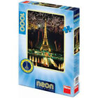 Dino Puzle Neon Eiffel Tower 1000 parts - Puzzle glowing in the dark