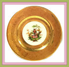 Antique Limoges Gold Encrusted Porcelain Plate - Hand Painted French Decoration