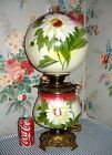c 1905 Pittsburgh GWTW Parlor Banquet Lamp Hand Painted DAISIES Antique