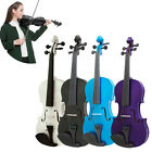 New Music 4/4 Full Size Natural Acoustic Wood Violin Fiddle with Case Bow XJ