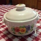 Corelle Pansy summer blush casserole covered bean Pot Jay imports