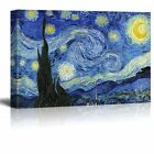 Starry Night by Vincent Van Gogh Oil Painting Reproduction on Canvas 24 x 36