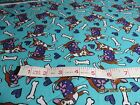 SNUGGLE FLANNEL COTTON FABRIC PRETTY CHIHUAHUAS ON TURQUOISE BY THE YARD