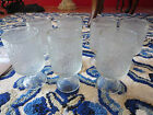 7 Indiana Glass Crystal Ice Tree Bark Textured 2 Water Glasses EUC Clear Glass
