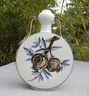 White, Gray Bianhu Moonflask Porcelain Pomegranate Floral Sprays