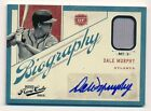 2012 Prime Cuts DALE MURPHY Auto Autograph Game Used Jersey #39 49