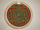Deruta Italy Large Round Serving Platter, Stunning Floral/Geometrics, Vibrant