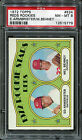 1972 Topps #524 Reds Rookies Armbrister, Behney PSA 8