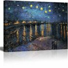 Wall26 Canvas Wall Art Prints Starry Night over The Rhone by Van Gogh 24x32