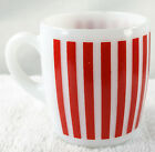 Hazel Atlas Milk Glass Red Candy Stripe Mug A-11