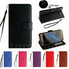 Classic Flip Hybrid PU Leather Card Pocket Stand Cover TPU Lot Case For Samsung