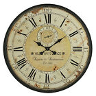 Vintage Wall Clock Rustic Antique Style Large 315 Oversized Distressed Face