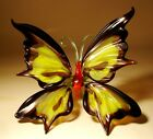 Blown Glass Figurine Murano Art Insect Black and Yellow BUTTERFLY
