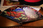 Antique Japanese Hand Fan - Hand Painted