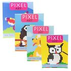Pixel Picture Art Coloring Book 64 Pages in Assorted Styles