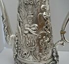 GORGEOUS TIFFANY STERLING FIGURAL OLYMPIAN COFFEE OR CHOCOLATE POT C. 1885