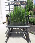 Stone Co. ? Wooden Black Stenciled Harvest Child's Rocking Chair
